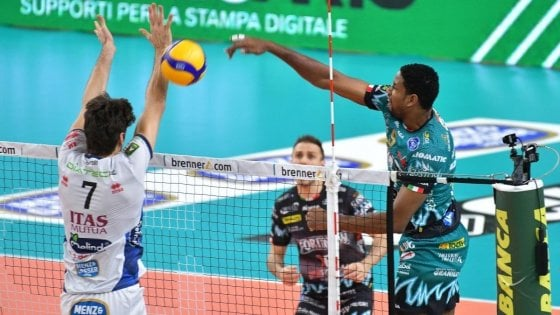 Volley, Superlega: Perugia vince a Trento e accorcia su Civitanova