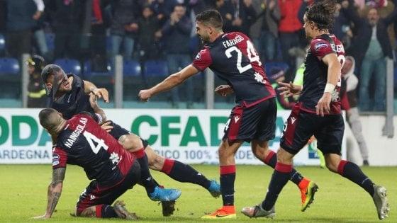 Cagliari-Sampdoria 4-3: rimonta da urlo dei sardi, Cerri firma il sorpasso al 96'