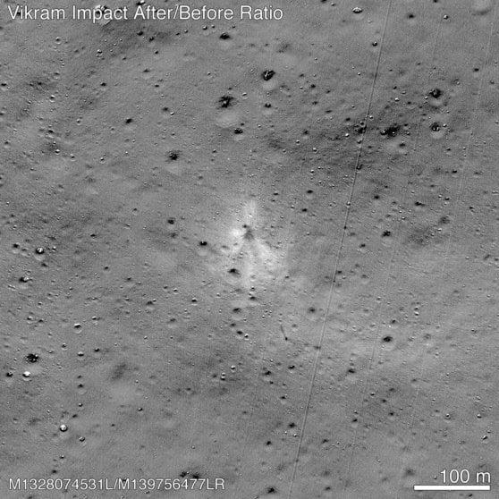 La Nasa trova il punto d'impatto della sonda indiana Vikram sulla Luna