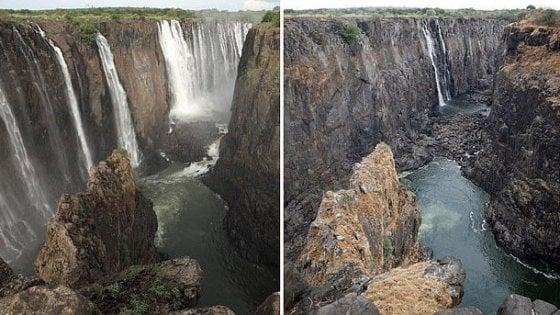 """Zambia, l'agonia delle Cascate Vittoria: """"Tra un anno potrebbero non esistere più"""""""