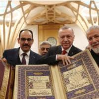 """Gb, Erdogan e Cat Stevens insieme per inaugurare """"la prima moschea ecologica al mondo"""""""