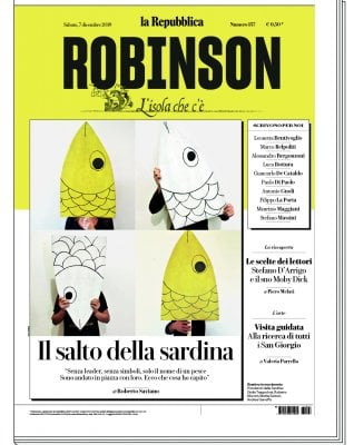 Su Robinson Roberto Saviano e le Sardine