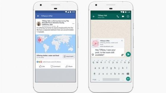 Anche Whatsapp avrà il bottone per le emergenze di Facebook