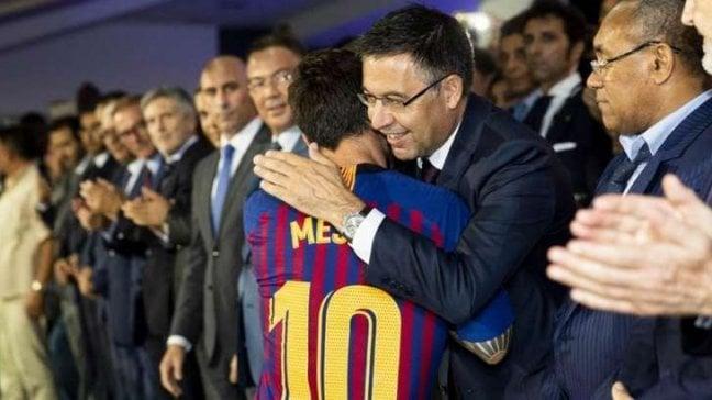 """Bartomeu: """"Messi al Barça a vita. Vidal non parte, bravo Lautaro"""""""