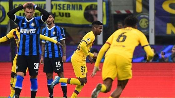 Champions, Inter-Barcellona 1-2: non basta Lukaku, nerazzurri eliminati
