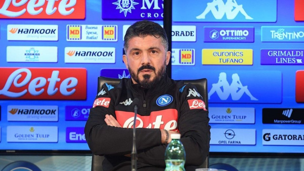 """Napoli, Gattuso: """"Ancelotti come un padre, ma niente paragoni. Questa squadra non può stare fuori dall'Europa"""""""