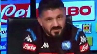 """Napoli, Gattuso alla giornalista: """"Sembri Marzullo"""""""