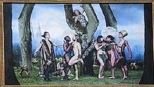 """Svezia, via il quadro del """"Peccato originale"""" in versione omosessuale"""