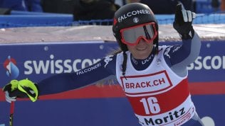 Sci, doppietta azzurra in SuperG a St.Moritz: vince Goggia, seconda Brignone
