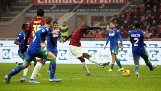 Milan-Sassuolo 0-0: rossoneri fermi al palo nel giorno della festa