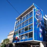 Nuovo look per la Figc: la sede si tinge di azzurro
