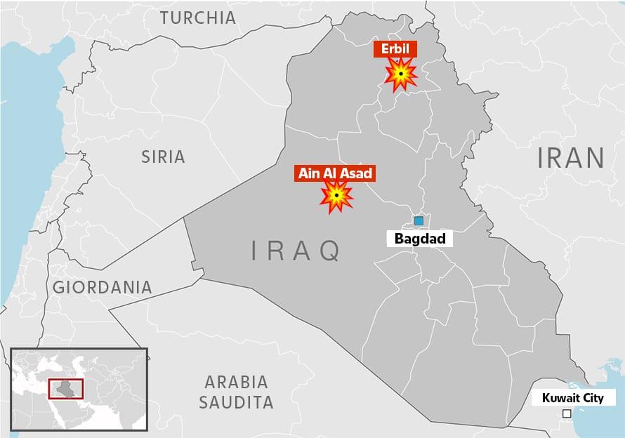La mappa dell'attacco