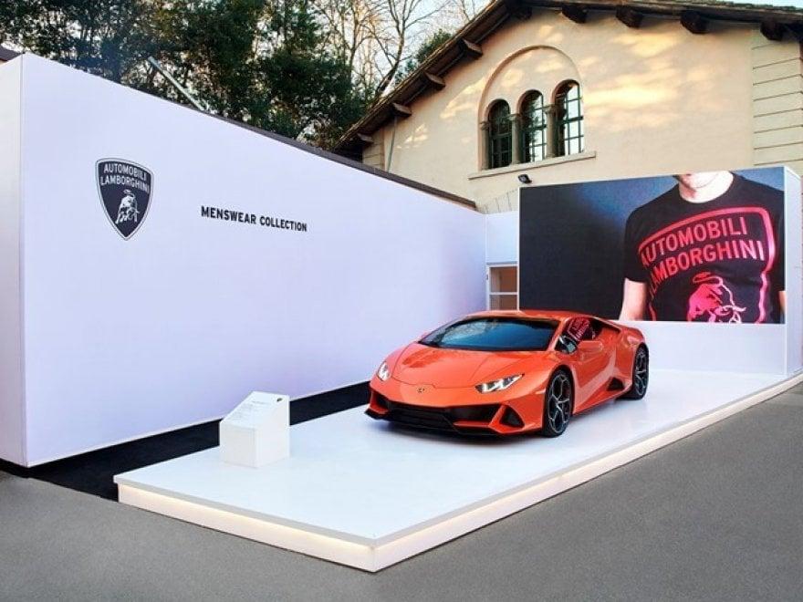 Lamborghini Menswear Collection Autunno Inverno: che show a Pitti Uomo
