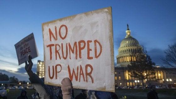 "Iran: ok Camera Usa a limitazione poteri guerra Trump. Casa Bianca: ""Risoluzione ridicola"""