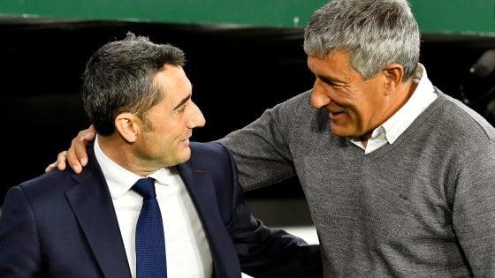 Barcellona: esonerato Valverde, arriva Quique Setién