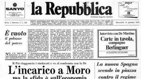 #AuguriRepubblica. Il 14 gennaio 1976 la prima copia. Dal premier Conte a Vasco Rossi, gli auguri al nostro giornale