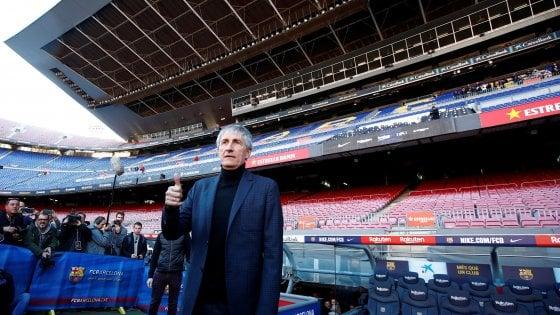 """Barcellona, Quique Setien: """"Ieri passeggiavo tra le mucche ed oggi alleno i più forti"""""""
