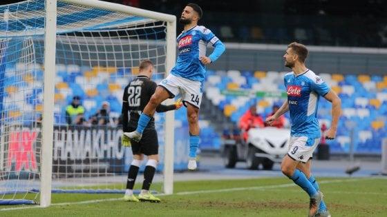 Coppa Italia, Napoli-Perugia 2-0: Insigne porta gli azzurri ai quarti