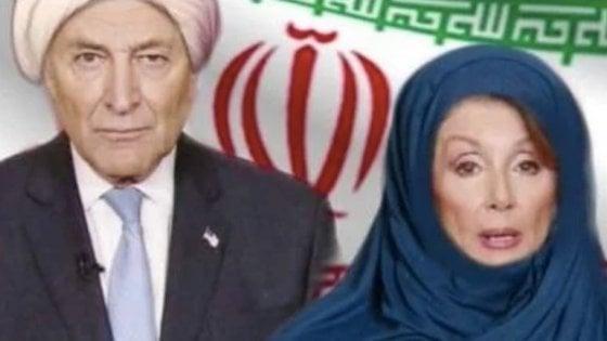 """Usa, Trump twitta la foto di Pelosi con hijab (fake). La speaker: """"Che tristezza"""""""