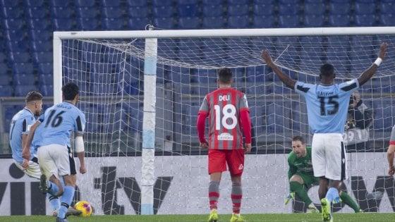 Coppa Italia, Lazio-Cremonese 4-0: Patric, Parolo, Immobile e Bastos trascinano i biancocelesti ai quarti