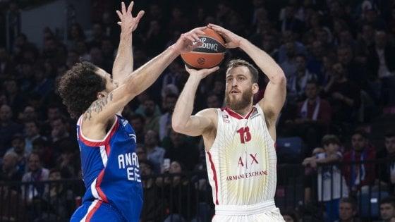 Basket, Eurolega: Efes troppo forte, Milano cade 88-68