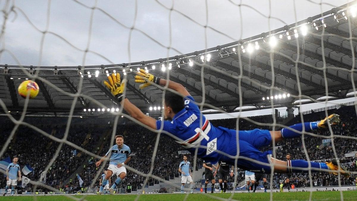 Lazio-Sampdoria 5-1: tripletta di Immobile, biancocelesti inarrestabili