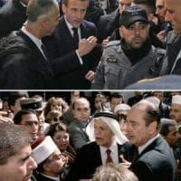 Gerusalemme. Macron come Chirac: battibecco con la polizia israeliana nella Città Vecchia