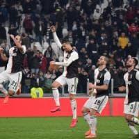 Coppa Italia, Juventus-Roma 3-1: Ronaldo, Bentancur e Bonucci stendono i