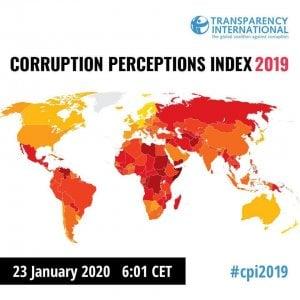 Corruzione: nel 2019 frena il miglioramento dell