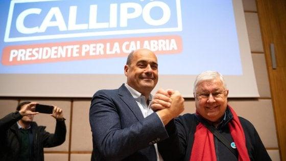 """Zingaretti con Callipo a Reggio: """"Non regalate la Calabria alla destra che odia il sud"""""""