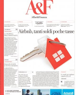 Airbnb, un boom con poche entrate per il Fisco