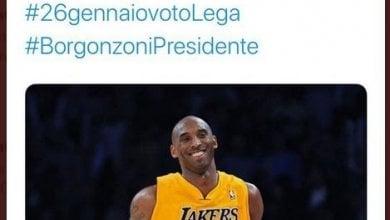 La Lega twitta il cordoglio per Kobe Bryant con l'hashtag Borgonzoni presidente. Poi le scuse