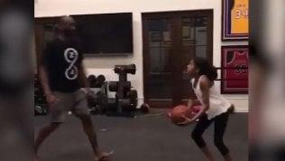 Quando Kobe e Gianna giocavano a basket nella palestra di casa