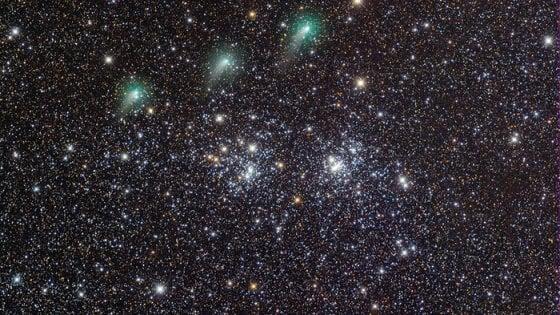 """Una corona verde tra le stelle. L'italiano che ha scattato la foto della cometa scelta dalla Nasa: """"Sei giorni per catturare il passaggio"""""""
