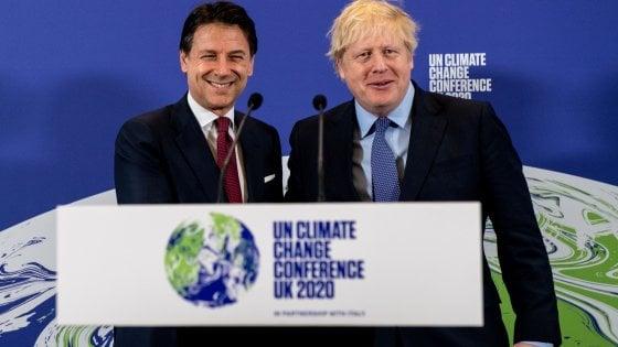 """Regno Unito, Johnson e Conte presentano il prossimo vertice mondiale sul clima Cop26. """"È un anno decisivo"""""""