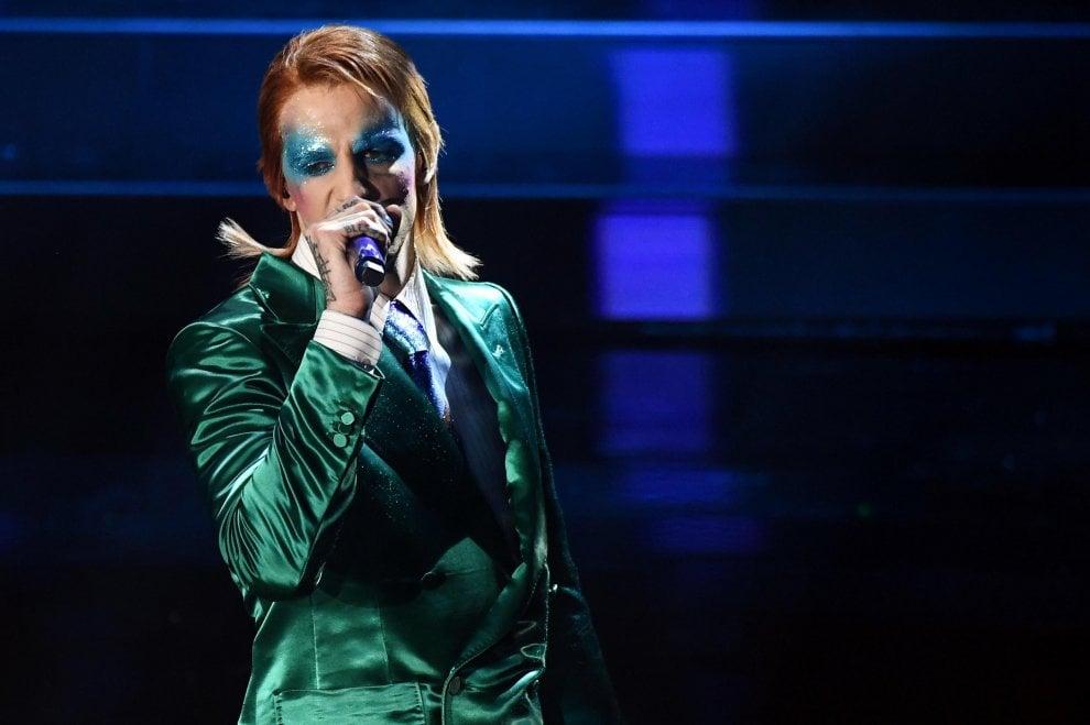 Sanremo 2020, dopo San Francesco, Achille Lauro è Ziggy Stardust
