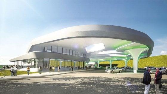 La stazione di servizio del futuro con palestra e centro commerciale