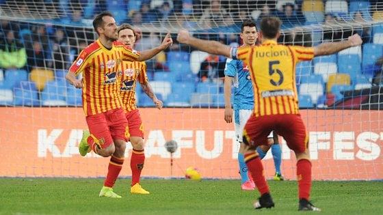 Napoli-Lecce 2-3: Lapadula e Mancosu firmano l'impresa dei salentini