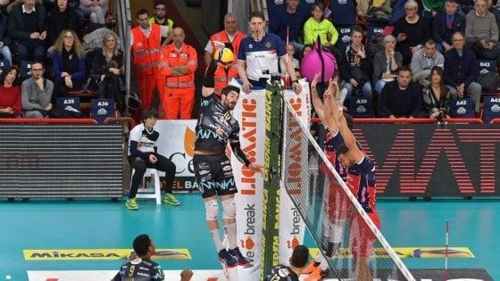 Volley, Superlega: Civitanova torna subito a vincere, ma Perugia risponde