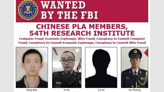 Tra Usa e Cina risale la tensione per il più grande furto d'identità
