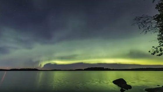"""Come le """"dune"""": l'aurora polare scoperta al Nord"""