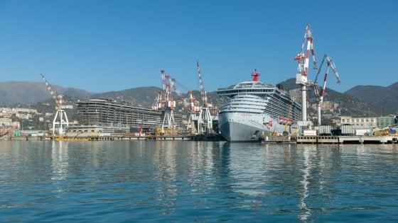 """Virgin si lancia sulle crociere, varata a Genova la """"Scarlet lady"""""""