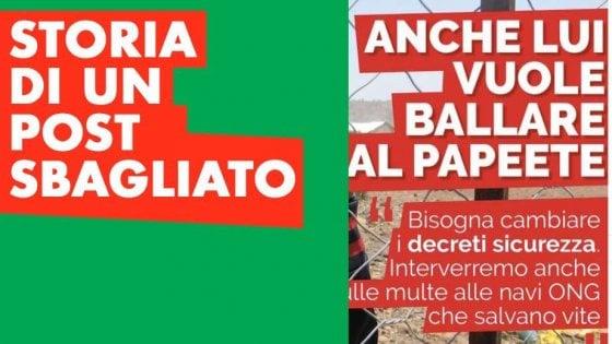 """Migranti, """"anche lui vuole ballare al Papete"""". Polemica sul post del Pd Lazio che poi ammette: """"Un errore"""""""
