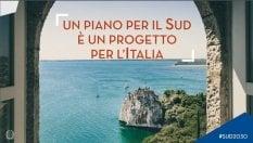 La gaffe: nel manifesto del piano per il Sud c'è il castello di Duino (in Friuli-Venezia Giulia)