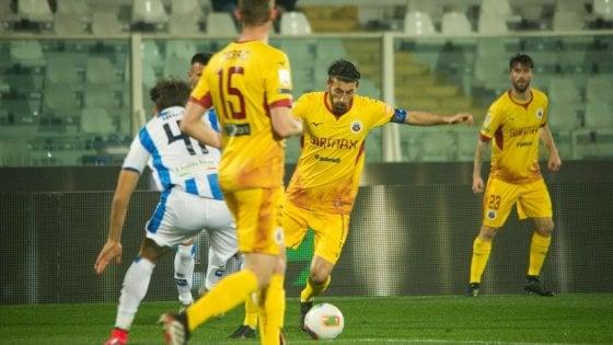 Serie B, Pescara-Cittadella 1-2: Iori su rigore firma il colpo