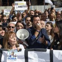 """A Roma derby Lega-Sardine. Salvini: """"Torneremo a vincere. Conte invece di comprare..."""