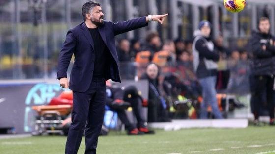"""Napoli, Gattuso: """"Siamo tornati? Ancora non mi fido..."""""""