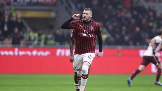 Milan-Torino 1-0, decide Rebic: i rossoneri agganciano il sesto posto