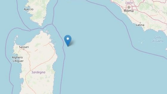 Terremoti: scossa magnitudo 3.5 al largo di Olbia