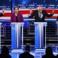 """Usa 2020, il debutto di Bloomberg in tv: """"Solo io posso battere Trump"""". Gli avversari lo..."""